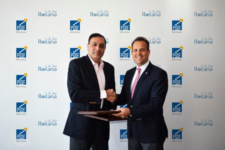 L-R: Mr. Jawad Khan, CEO PSDF and Mr. Omer Kaddouri, President & CEO Rotana.